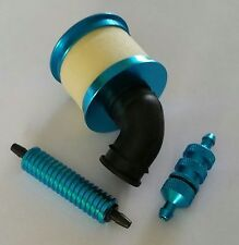 1/10 RC Nitro Kit Air Filter/Fuel Filter/Fuel Cooler Blue Alloy