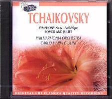 Carlo Maria GIULINI TCHAIKOVSKY Symphony No.6 Pathetique Romeo and Juliet EMI CD