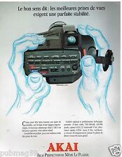 Publicité Advertising 1991 Le Camescope C 100 S Akai