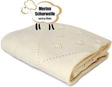 Baby-Decke Kuscheldecke Schmusedecke Babydecke Decke Merino Schurwolle 80 x 90cm