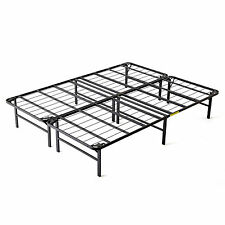 intellibase lightweight easy set up bi fold platform metal bed frame full - Metal Bed Frame Full