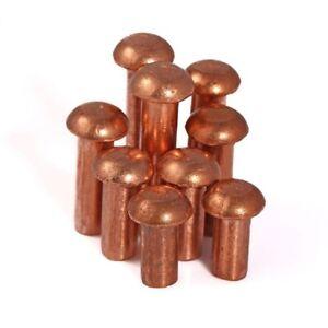 Brass Copper Round Head Solid Rivets M2 M2.5 M3 x3/4/5/6/8/10/12/16/20mm