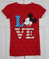 Disney Minnie Mouse Glitter Love T-Shirt Girl's Size XL
