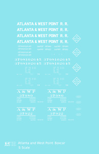 K4 S Decals Atlanta and West Point 40 Ft Boxcar White A&WP