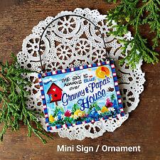 * Granny Papa 's House Wooden Ornament / Mini Sign Grandparents Gift USA New Pkg