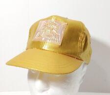 Vintage MGM Grand Hotel Las Vegas Gold Metallic Snapback Hat Cap Youth Kid