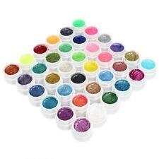 36 Farben Nail Art UV Gel Farbgel Effekt-Gele Pulver Glitter Set