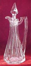 Jefferson Krys-tol Cruet Mold Blown Vintage Early American Pressed Glass