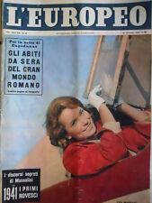 L' EUROPEO n°53 1956 I discorsi segreti di Benito Mussolini  [C76]