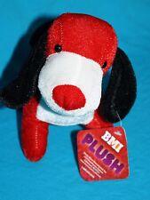 "Bonita Marie Red White Plush Puppy DOG 8"" Standing Soft Toy Stuffed New BMI"