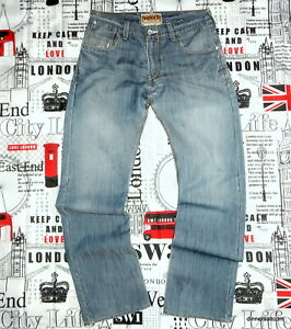 mens 33W 32L Levi's 514 Jeans Slim Straight Faded Blue Denim Flapped Pockets
