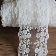 Floral Trim Lace Chic White Daisy Tulle Lace Embroidered Dress Sewing 1Yard