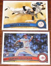 2011 Topps Baseball You Pick 20 Cards to Complete Your Sets Series 1, 2, Updates
