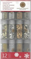 12pk Golden Woodland Glitter Embellishment Variety Set Martha Stewart