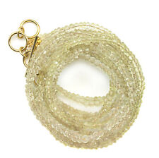 Lemon Quartz Necklace or Wrap Bracelet 14k GF Three Strand Adjustable 7 8 22 In