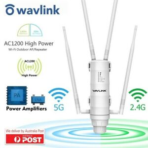 Wavlink Dual-Band AC1200 Wifi Range High Power Outdoor Extender PoE High Gain