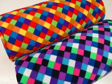 Polar Fleece Anti Pil Fabric Premium Quality Soft Material Harlequin Check