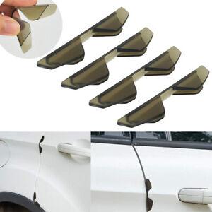 4pcs Brown Car Door Edge Scratch Corner Cover Protector Anti-Collision Sticker