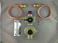 Caravan,Domestic, Cabin  LP Gas Regulator,  Automatic Change Over, & Pipes