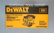 Dewalt Dcs373b 5 12 In 20v Max Lithium Ion Metal Cutting Circular Saw Tool Only