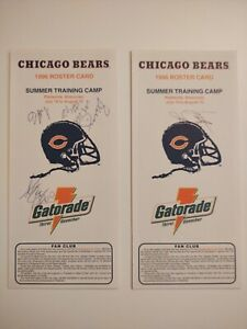 1996 Chicago Bears Training Camp Roster Cards AUTOGRAPHED Minter NFL Schedule