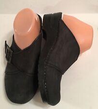 Women's SANITA CHIPAWA Black Leather Casual Mules US 8 - 8.5 EU 39