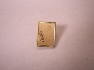 -Engraved 12K Gold Filled Vintage ANSON Tie Tack Lapel Pin