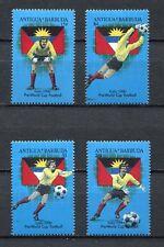 s6171) ANTIGUA & BARBUDA 1989 MNH** WC Football'90 - CM Calcio 4v