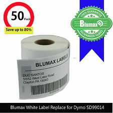 50 Blumax White Shipping Label Replace for Dymo SD99014 54x101mm Labelwriter450