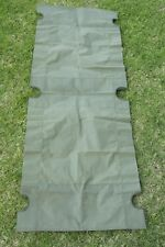 Australian Army Stretcher Bed / Cot Replacement Fabric Heavy Duty Canvas NOS