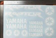 YAMAHA RAPTOR Aufkleber Sticker EXUP Motorsport Raptor WEISS
