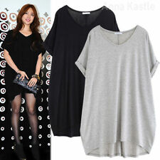 Cotton Blend Short Sleeve Solid Tops for Women