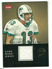 DAN MARINO 2004 FLEER GREATS GLORY OF THEIR TIME GOLD EDITION GAME USED JERSEY