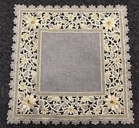 20'' Square Embroidered Lace Organza Table Placemats Mat Doilies Wedding Party