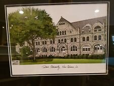 Tulane University Green Wave Framed & Matted Campus Picture