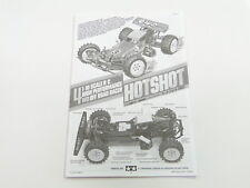 NEW TAMIYA HOTSHOT  Manual TO0
