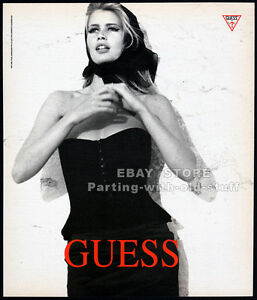 GUESS__CLAUDIA SCHIFFER__Orig. 1991 print AD fashion promo__Ellen Von Unwerth