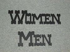 Western Style Men & Women Wood Restroom Door Word Signs