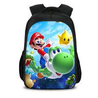 Super Mario Bros 3D Backpack Canvas Travel Bags Casual Mellow Dance School Bag