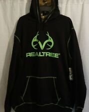 REAL TREE Black Camo Hoodie Men Hickory Sweatshirt 2XL XXL NWT