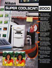 New original Nikon brochure for Super CoolScan 2000 ED Slide & Film Scanner