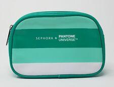 SEPHORA PANTONE UNIVERSE COLOR BLOCK GREEN MAKE UP CASE NIP