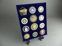 Présentoir Vitrine UNITED STATES OF AMERICA Pièce Jeton Coin Médaille OBAMA USA