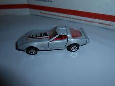 VTG 1982 ROAD CHAMPS 82 CHEVY CORVETTE (VETTE) SILVER/RED/BLACK 1/64 HONG KONG