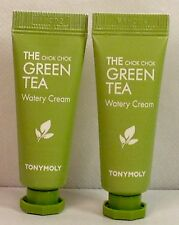TONY MOLY Chok Chok The Green Tea Watery Cream .35 oz X 2 Tubes  SUPER SALE