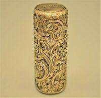 Antique Original Hallmark Signed Brockwell Sterling Silver Lipstick Case Holder