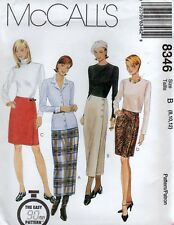 McCall's 8346 WRAP SKIRT Sewing Pattern Uncut Size 8-10-12