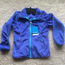 NWT Columbia Girls Fast Beauty Full Zip Soft Plush Fleece Jacket Violet Sz:10-12