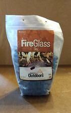 Gibralter Lt Blue (Blue) Iridescent Fire Stones Fire Glass