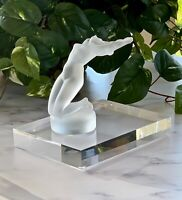 Lalique Chrysis French Crystal Mascot Hood Ornament Mint - Retail $850